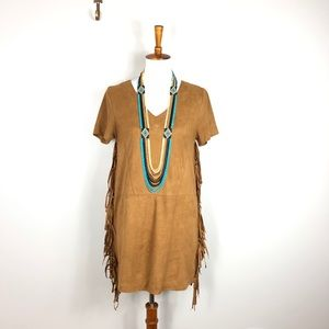 Very J Fringed Dress